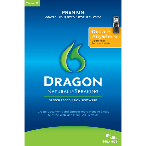Nuance Communications, Inc. Dragon NaturallySpeaking v.11.0 Premium - Complete Product - 1 User