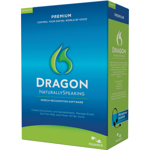 Nuance Dragon NaturallySpeaking v.11.0 Premium With Headset - Complete Product - 1 User