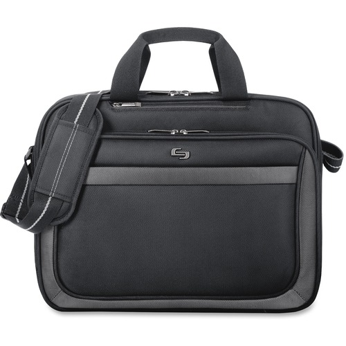 """Solo Sterling Carrying Case (Briefcase) for 15.6"""" Notebook - Black"""