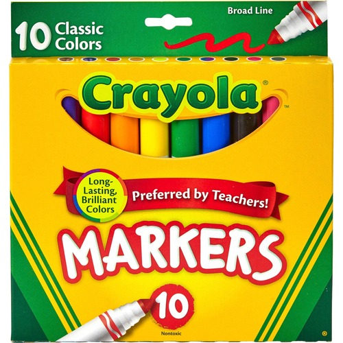 Crayola Classic Colors Broad Line Markers | by Plexsupply