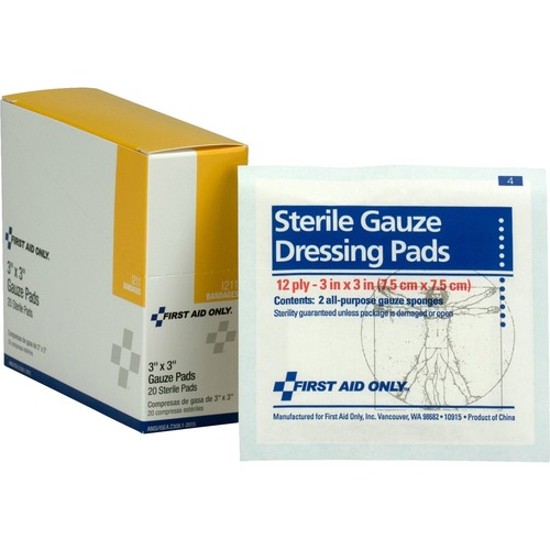 "First Aid Only 3""x3"" Gauze Pads Dispenser Box"