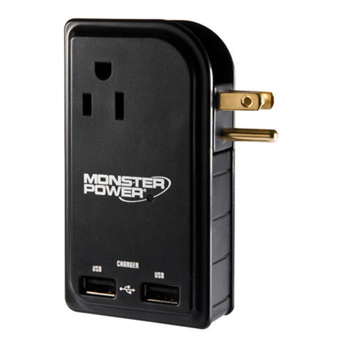 Monster Cable Outlets To Go MP OTG300 LTOP 5-Outlets Power Strip