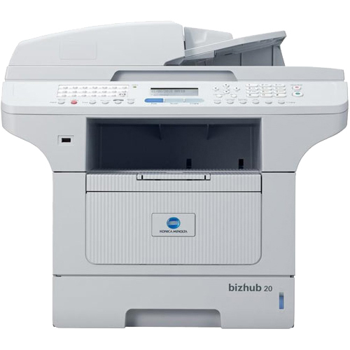 Konica Minolta bizhub 20 Laser Multifunction Printer - Monochrome - Plain Paper Print - Desktop