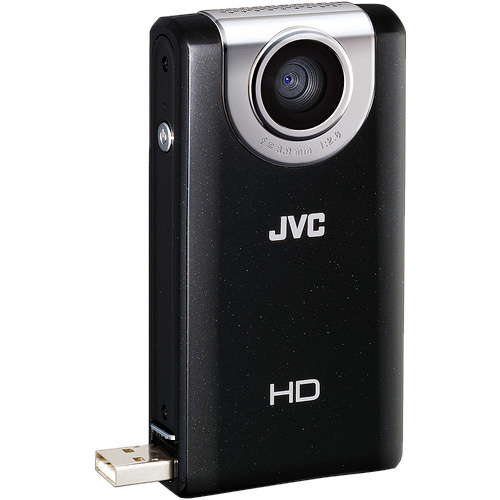 "JVC PICSIO GC-FM2 Digital Camcorder - 3"" LCD - Touchscreen - CMOS - Black"