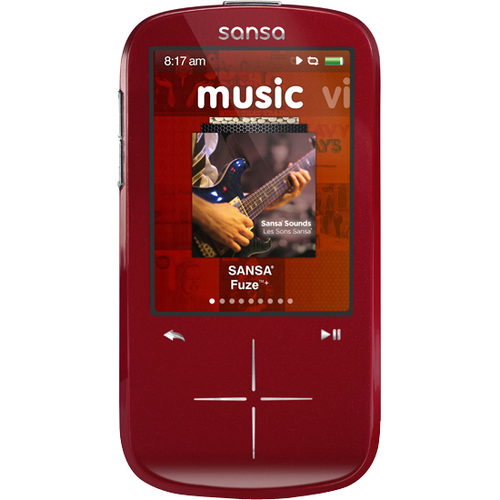 Sandisk Fuze Plus 4GB Mp3 Player Red - Sdmx20r-004gr-a57