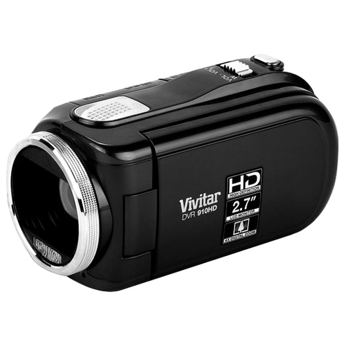 "Vivitar DVR 910HD Digital Camcorder - 2.7"" LCD - CMOS - HD - Black"