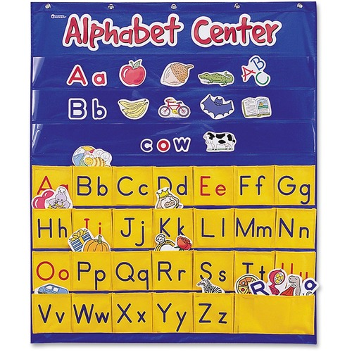 Learning Res. Alphabet Center Pocket Chart | by Plexsupply