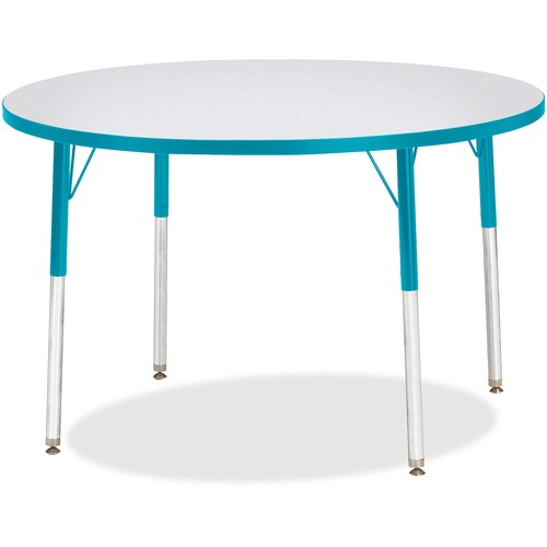 Jonti-Craft Adult Ht. Prism Color Edge Round Table   by Plexsupply