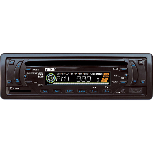 Naxa Detachable PLL Electronic Tuning Stereo AM/FM Radio MP3/CD Player with ID3 Text Function, USB/SD/MMC Inputs and Aux-in J