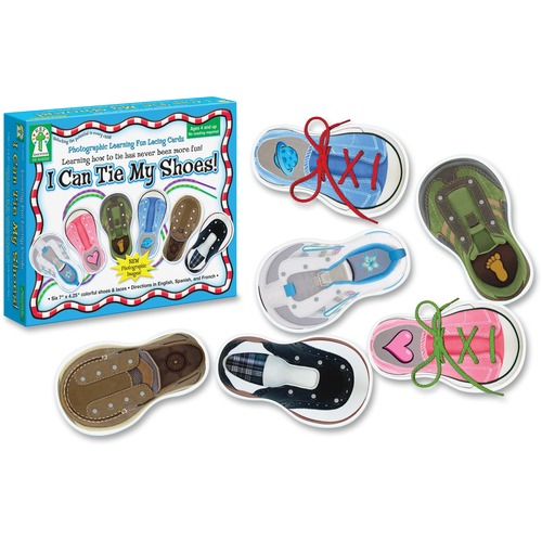 Carson PreK-Grade 1 I Can Tie My Shoes Cards Set | by Plexsupply