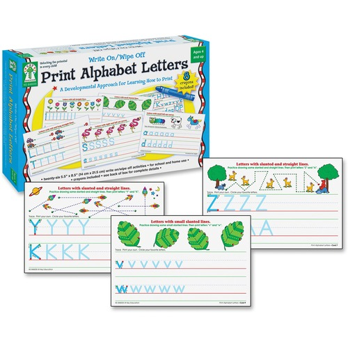 Carson PreK-Grade 1 Alphabet Erasable Activity Set | by Plexsupply