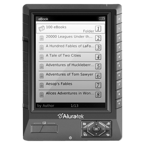 "Aluratek Libre Ebook Reader Pro - Ebook Reader - Flash: 2 Gb - 5"" - Black - Aebk01fs"
