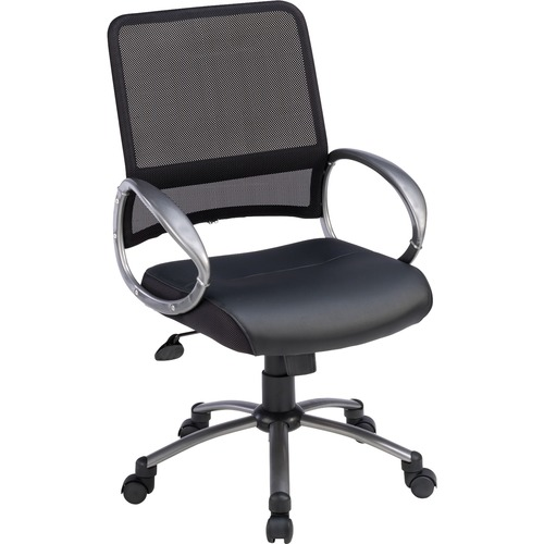 Lorell Mesh Back Bonded Leather Task Chair | by Plexsupply