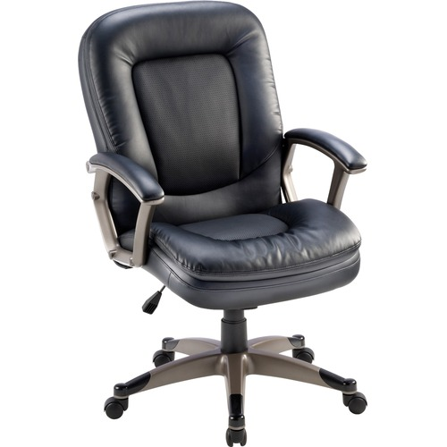 Lorell Bonded Leather Mid-back Chair | by Plexsupply