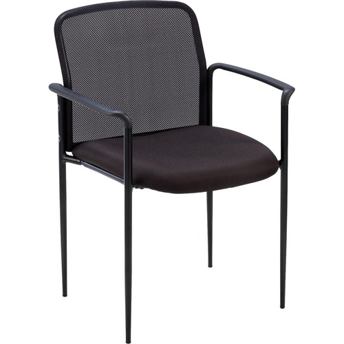 Lorell Plastic Arms Mesh Back Reception Side Chair | by Plexsupply