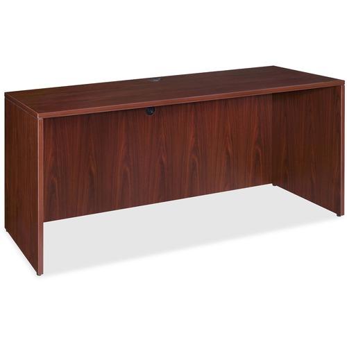 Lorell Essentials Mahogany Laminate Desking | by Plexsupply