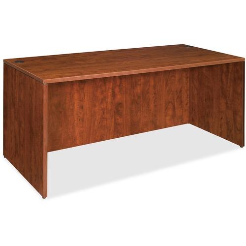 Lorell Essentials Series Cherry Laminate Desking | by Plexsupply