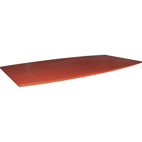 Lorell Essentials Cherry Boat-shape Conf. Tabletop | by Plexsupply