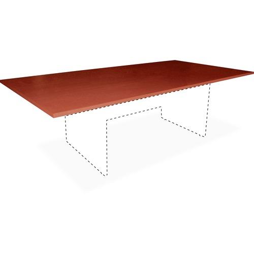 Lorell Essentials Cherry Rectangular Conf Tabletop | by Plexsupply