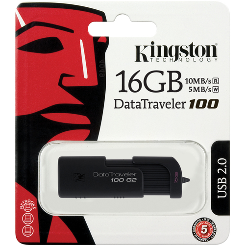 Kingston DataTraveler 100 G2 DT100G2/16GBZ Flash Drive - 16 GB