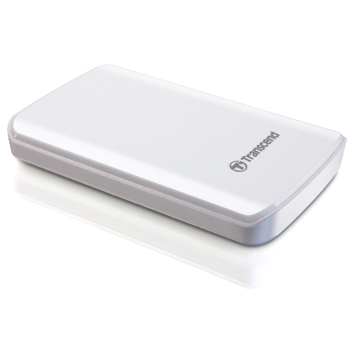 Transcend StoreJet 25D2 500 GB External Hard Drive - White