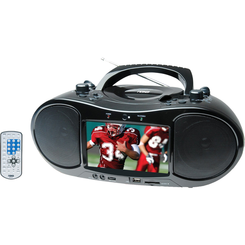 "Naxa 7"" TFT LCD Display Portable DVD Player with AM/FM Stereo Radio"