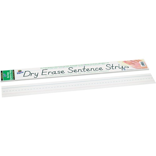 Dry Erase Sentence Strips, 24 x 3, White, 30/Pack | by Plexsupply