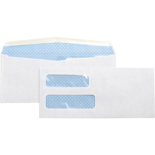 Bus. Source No. 10 Double Window Invoice Envelopes | by Plexsupply