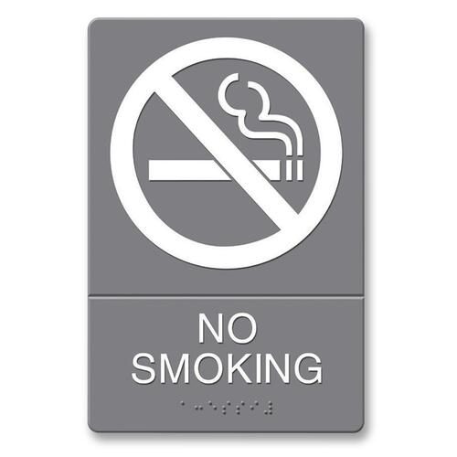 U.S. Stamp & Sign ADA Plastic No Smoking Sign | by Plexsupply