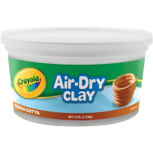 Air-Dry Clay, Terra Cotta, 2 1/2 lbs | by Plexsupply
