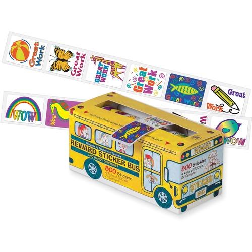 Pacon Self-adhesive School Bus Rewards Stickers | by Plexsupply