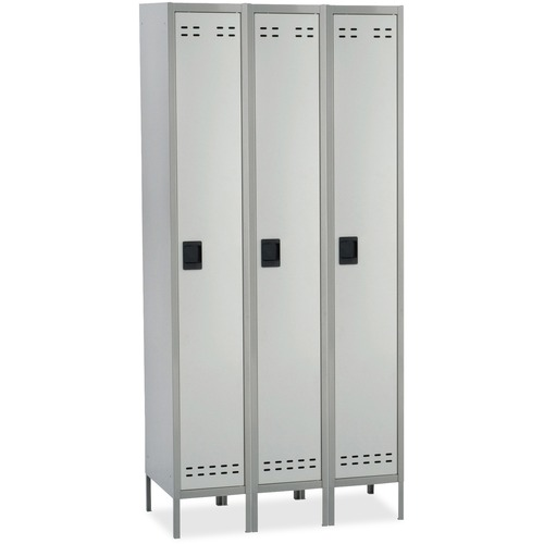 Safco Single-Tier Two-tone 3 Column Locker with Legs