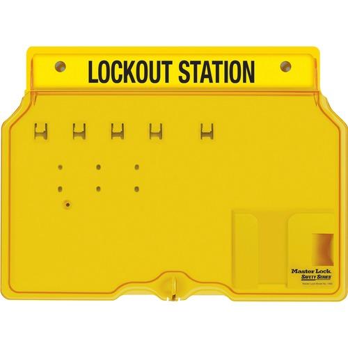 Master Lock Unfilled Padlock Lockout Station w/Cvr | by Plexsupply