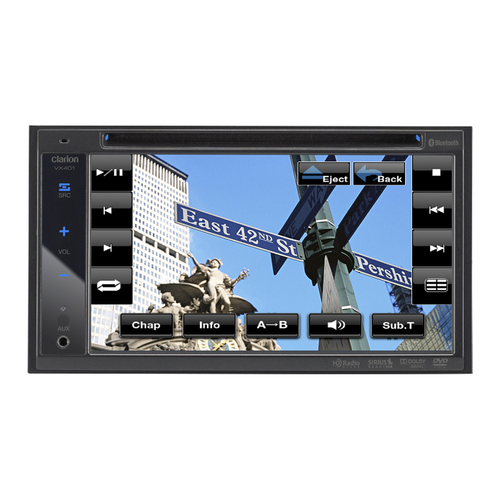 "Clarion VX401 Car DVD Player - 6.2"" LCD - 72 W - Double DIN"