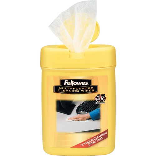 Fellowes Multipurpose Surface Cleaning Wipes - 65