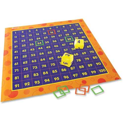 Learning Res. Hip Hoppin' Hundred Mat Floor Game | by Plexsupply