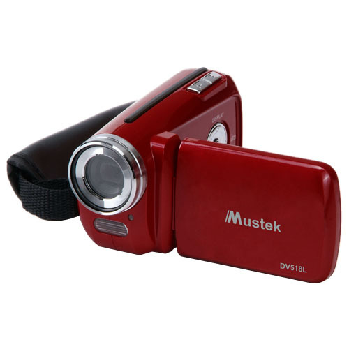 "Mustek Digital Camcorder - 1.8"" LCD - CMOS - Red"