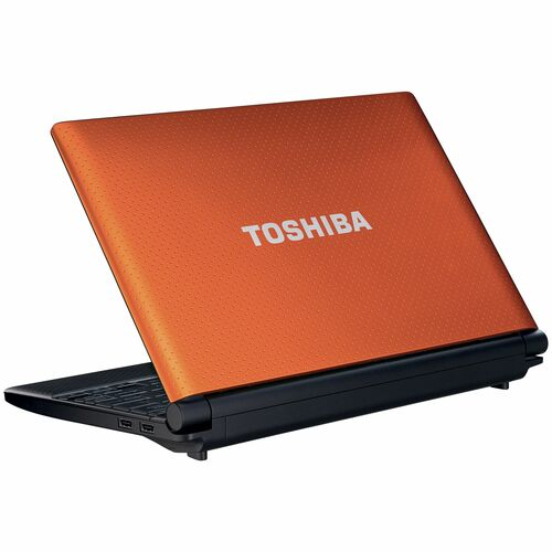 "Toshiba Mini NB505-N508OR 10.1"" LED Netbook - Atom N455 1.66 GHz - Orange"