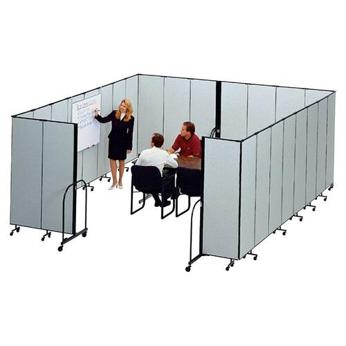 Screenflex CFSL8013DG FREEstanding 13 Panels Portable Partition