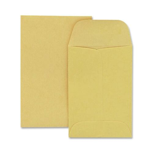 Quality Park 50163 Quality Park Coin Envelopes, #1, 2.25 x 3.5 Inches, Kraft, Box of 250