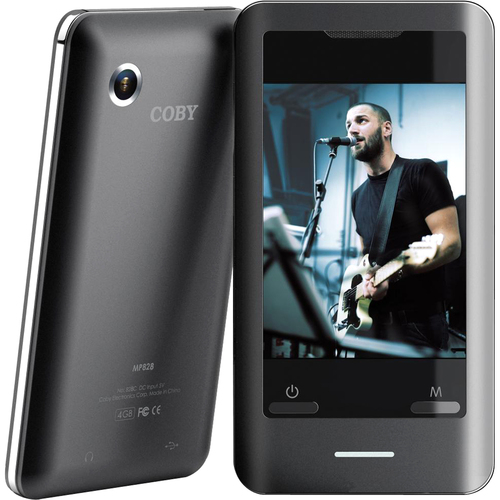 Coby MP828 8 GB Black Flash Portable Media Player