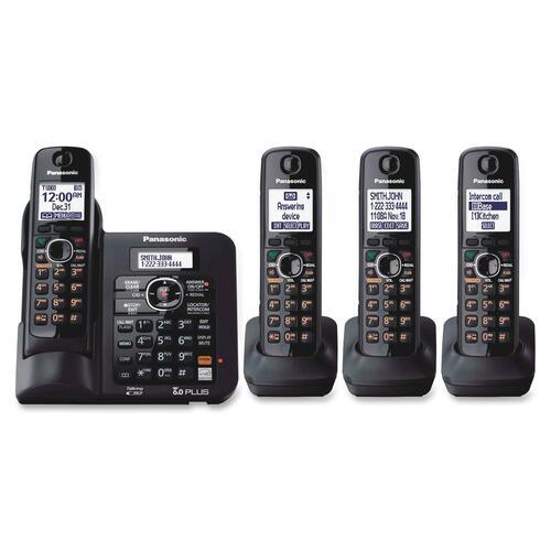 Panasonic KX-TG6644B Standard Phone - 1.90 GHz - DECT - Black