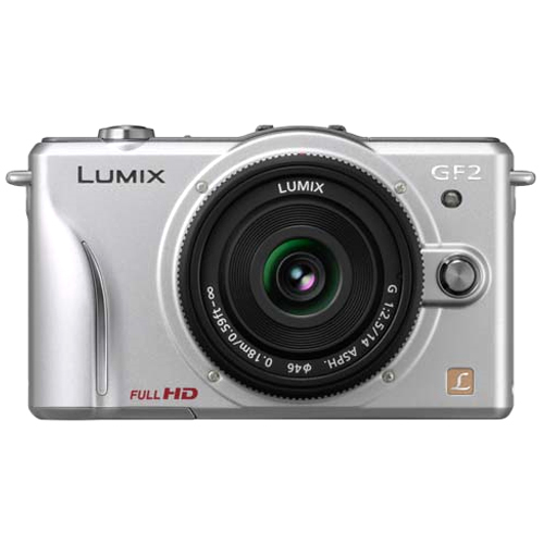 Panasonic Lumix DMC-GF2 12.1 Megapixel 3D Mirrorless Camera (Body with Lens Kit) - 14 mm - Silver