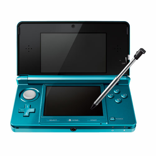 "Nintendo 3DS 3.5"" Active Matrix TFT Color LCD CTRSBAAA Handheld Game Console - Aqua Blue - Dual Screen"