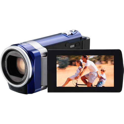 "JVC Everio GZ-HM450 Digital Camcorder - 2.7"" LCD - Touchscreen - CMOS - Blue"