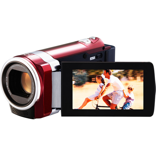 "JVC Everio GZ-HM450 Digital Camcorder - 2.7"" LCD - Touchscreen - CMOS - Red"