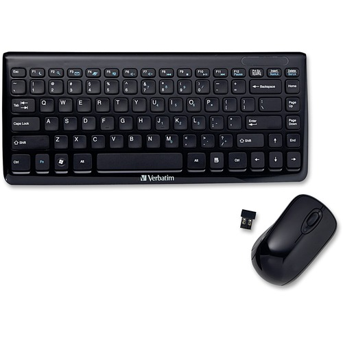 "Wireless slim keyboard/mouse, 12-1/2""x5-1/4""x1"", black, sold as 1 each"