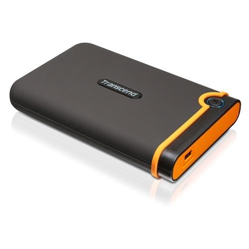 """Transcend TS750GSJ25M2 StoreJet 25M2 750 GB 2.5"""" External Hard Drive - Black"""