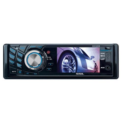 "Soundstorm SD325B Car DVD Player - 3.2"" LCD - 320 W - Single DIN"
