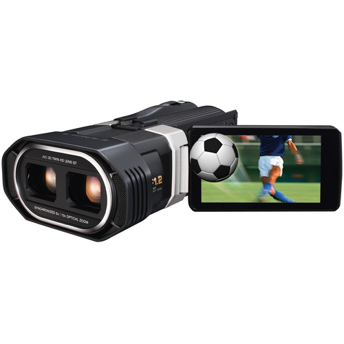 "JVC Everio GS-TD1BUS 3D Digital Camcorder - 3.5"" LCD - Touchscreen - CMOS"